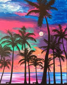 Beautiful Tree Painting Canvas Ideas New Ideas Sunset Wallpaper, Colorful Wallpaper, Beautiful Nature Wallpaper, Beautiful Landscapes, Beautiful Sunset, Acrylic Painting Canvas, Canvas Art, Beach Canvas Paintings, Sunset Canvas