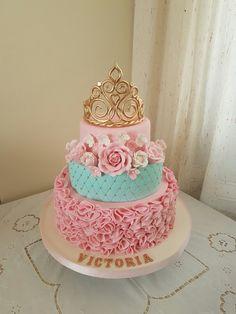 New Ideas Birthday Cake Diy Princess Birthday Cake Roses, Birthday Cake Girls, Princess Birthday, Princess Cake Disney, Princess Cakes, Cute Cakes, Pretty Cakes, Beautiful Cakes, Foto Pastel
