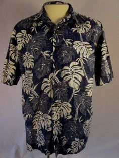 KOA ROAD Mens Hawaiian Reverse Print Multi-color Tropical Cotton X-Large  #KoaRoad #Hawaiian
