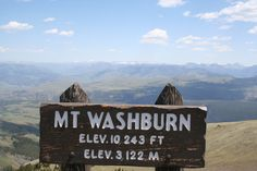 There are so many reasons to visit Mt. Washburn, this view is just one.