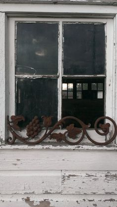 Antique Rusty Cast Iron Tulip and Grape Vine Architectural Salvage Panel by OldHouseChic, $35.00