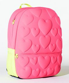 Loving this Neon Pink Bubble Hearts Backpack on #zulily! #zulilyfinds