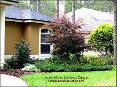 Northern inspired landscape design by Tampa Landscape Design.  Lauren Shiner, Tampa Landscape Design, LLC, tampalandscapedesign.com