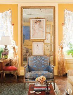 Fernanda Kellogg & Kirk Henckels's New York City Apartment, decorated by Brockschmidt & Coleman, Architectural Digest