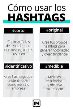 Cómo usar los #hashtags en tu estrategia digital Content Marketing Tools, Digital Marketing Strategy, Business Marketing, Email Marketing, Business Tips, Social Media Marketing, Social Media Tips, Social Networks, E Commerce