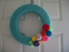 "Fun Crafts for Your Room | jane of all crafts wreath 3 Spring wreaths that say ""Hello Spring ..."