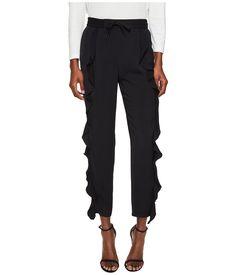 SONIA RYKIEL SONIA RYKIEL - CHARMEUSE TROUSERS (BLACK) WOMEN'S CLOTHING. #soniarykiel #cloth #