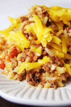 Cheeseburger Rice | http://5DollarDinners.com #glutenfree