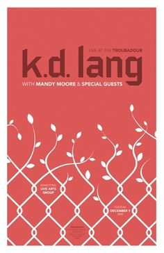 2008 Concert Posters - k.d. lang by DKNG