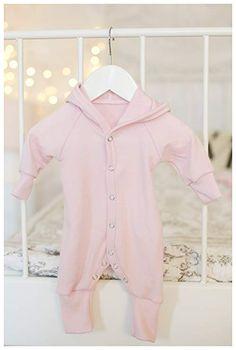 GREEN ROSE Baby Romper Suit for Boy Girl Long Sleeves Newborn Jumpsuit Unisex 100/% Merino Wool 0-24month
