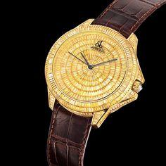 Royal yellow diamond baguette watch
