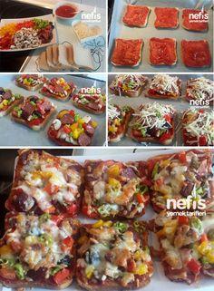 Pratik Şipşak Tost Pizzası Tarifi nasıl yapılır? 18.239 kişinin defterindeki bu tarifin resimli anlatımı ve deneyenlerin fotoğrafları burada. Yazar: Serife Güzel
