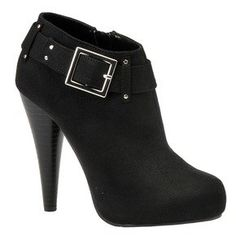 """• Strut your stuff in this runway-ready platform bootie • Synthetic suede or smooth upper with buckle detail • Side zipper closure • Lightly padded footbed • 4-3/4"""" heel height with 1"""" platform  http://www.amazon.com/dp/B00597140E/?tag=icypnt-20"""