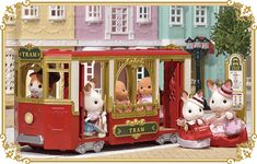 Sylvanian Families town New June 2017 Japan - Awesome Tram!!