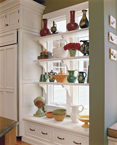Kitchen Window Shelving Designed By Triangle Design Kitchens, Raleigh, NC