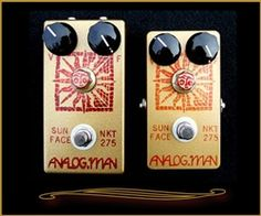Analog Man Sun Face Fuzz with Red LED and Power Jack at The Guitar Sanctuary McKinney Texas