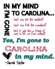 Gone to Carolina.. :)