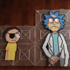 Rick and Morty hama perler beads by honey.beads