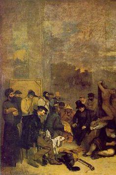 CLASIFICACIÓN  GUSTAVE COURBET   EL TALLER DEL PINTOR   Fecha : 1854-1855    Técnica : öleo sobre lienzo  Dimensiones:  35...