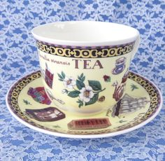 Tea Roy Kirkham Breakfast Size Cup And Saucer English Bone China New Flying…