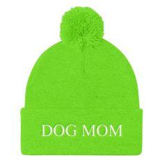 Dog Mom Pom Pom Knit Ski Hat