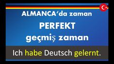 ALMANCA geçmiş zaman, almanca Perfekt, Präteritum, Vergangenheit -, HABE... Youtube, Learn German, Past, Youtubers, Youtube Movies