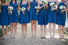 bridesmaid's dresses - same color different dresses. this is what i want to do.