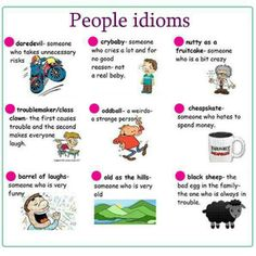 People idioms - English vocabulary