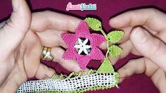 Çiçekli Dallı Modeli Havlu Kenarı Yapılışı Türkçe Videolu #havlukenarıörnekleri #kadın #çeyizlik #towellace #handtuchspitze #handmade
