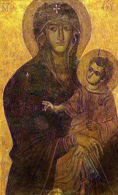 Icon of Salus Populi Romani in the Santa Maria Maggiore Basilica in Rome, seculo VI? Religious Images, Religious Icons, Religious Art, Images Of Mary, Old Images, Byzantine Icons, Byzantine Art, Blessed Mother Mary, Blessed Virgin Mary