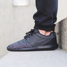 RESTOCK!  Nike Roshe One NM Flyknit Premium 'Black/Black-Dark Grey-White'  Available now @titoloshop by titoloshop
