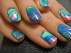 Water marbling-super pretty, but a lot of work!