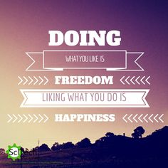 Doing what you like if freedom #scitechinspires #welovemondays