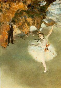 Degas's The Star - Dancer on Stage  also known as L'Etoile - La Danseuse sur la Scene