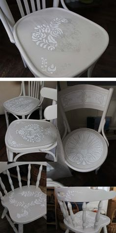 folklore patterns on chairs