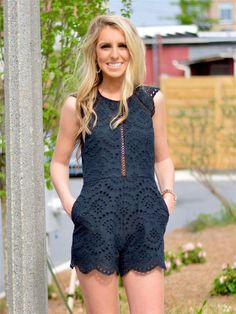 Open Back Eyelet Romper - $42.99 : FashionCupcake, Designer Clothing, Accessories, and Gifts