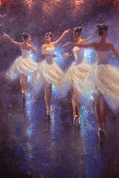 artbeautypaintings:Pirouettes - Andre Lucero