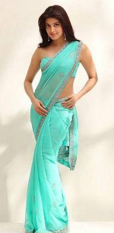 South Indian actress Pranitha Subhash hot backless saree bikini blouse at latest events collections Blouse Designs Catalogue, Indian Beauty Saree, Indian Sarees, Modern Sari, Sky Blue Saree, Green Saree, Sari Design, Stylish Sarees, Most Beautiful Indian Actress