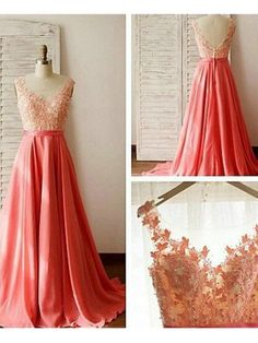 Beautiful Prom Dress, coral prom dresses 2018 evening dresses new fashion prom gowns elegant prom dress lace prom dresses chiffon evening gowns simple formal dress for teen Meet Dresses Coral Bridesmaid Dresses, Prom Dresses 2016, Prom Dresses For Sale, A Line Prom Dresses, Lace Bridesmaid Dresses, Evening Dresses, Dress Prom, Party Dresses, Coral Dress