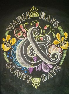 Bring on the...warm says & sunny days. Spring and summer chalkboard art idea.