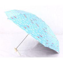 3 PCS Peixe Vinil Guarda-chuva 6 K Chuva Mulheres Proteção UV Sun/Chuva Paraguas Guarda-chuva 5 de Dobramento das Mulheres guarda-sóis de Chuva Das Senhoras(China (Mainland))