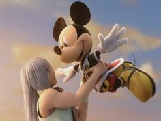 Riku and Mickey- Kingdom hearts 2