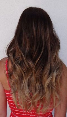 Back View of Long Ombre Hair