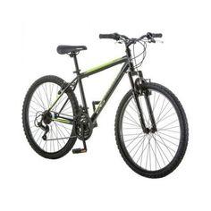Mountain Bike Black Bicycle 26 inch Suspension Frame Full Shimano Mens 18 Speed  #Roadmaster