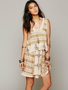 Free People FP New Romantics Voodoo Mama Stripe 2fer Dress, $69.95