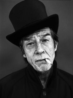 John Hurt; Black And White; Portrait; Photography. Just realistic without the addition of beauty