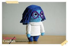 2000 Free Amigurumi Patterns: Sadness doll from the Inside Out movie