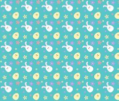 Easter Critters fabric by 13blackcatsdesigns on Spoonflower - custom fabric