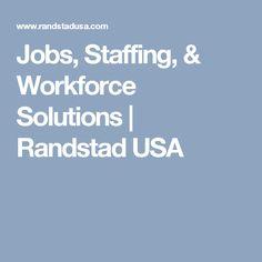 Jobs, Staffing, & Workforce Solutions   Randstad USA