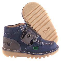 Boys KICKERS Kick Tri New Kilo Blue Nubuck Boots